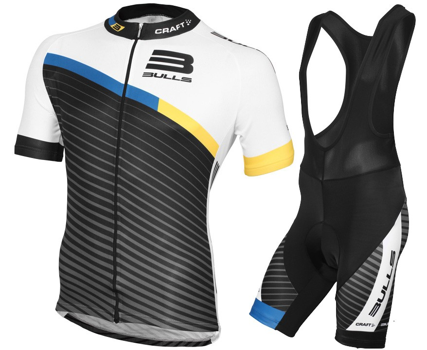 Mens Radtrikot Short Sleeve Top Race Cycling Bib Shorts Set