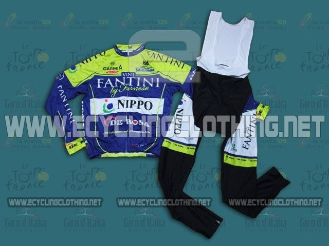 2014 Vini Fantini NIPPO - Long Sleeve Cycling Jersey And BIB Pants Kits 966a6f7f3
