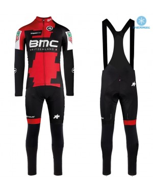 2017 BMC Racing Team Thermal Cycling Jersey And Bib Pants Set