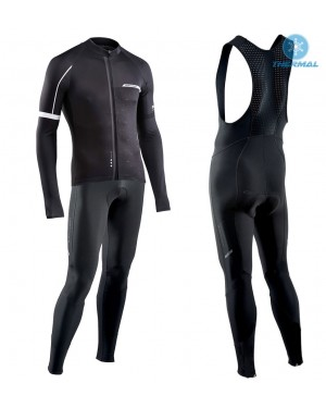 2017 Northwave Blade NW Black Thermal Cycling Jersey And Bib Pants Set