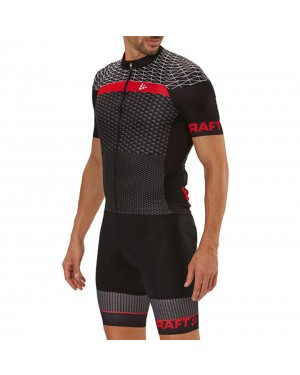 2018 Craft Route Black Cycling Jersey And Bib Shorts Set