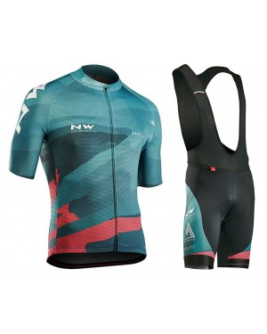 2018 Northwave Blade 3 Blue Cycling Jersey And Bib Shorts Set
