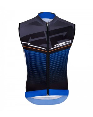 2016 Santini Interactive 3.0 Black-Blue - Cycling Vest
