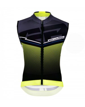 2016 Santini Interactive 3.0 Black-Green - Cycling Vest