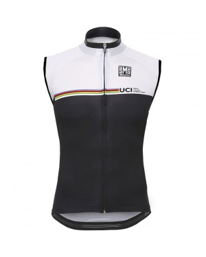 2016 Santini UCI Rainbow Line White - Cycling Vest