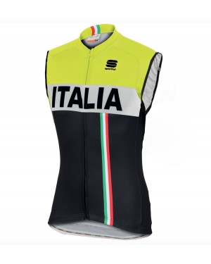 2016 Sportful Italy IT Black-Yellow - Cycling Vest