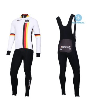 2019 Germany Country Team Thermal Cycling Jersey And Bib Pants Set
