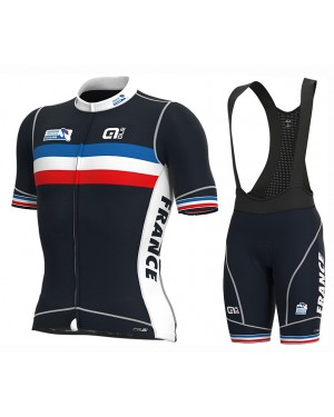 2020 France Country Team Cycling Jersey And Bib Shorts Set