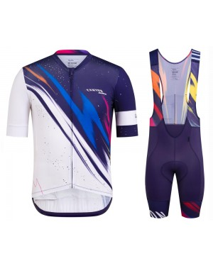2020 Canyon Team Blue-White Cycling Jersey And Bib Shorts Set
