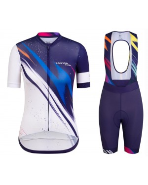 2020 Canyon Team Blue-White Women Cycling Jersey And Shorts Set