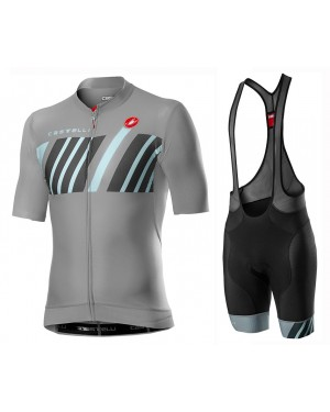 2020 Castelli Hors Categorie Grey Cycling Jersey And Bib Shorts Set