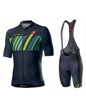 2020 Castelli Hors Categorie Blue Cycling Jersey And Bib Shorts Set