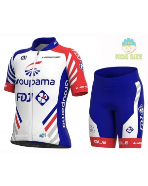 2020 Team FDJ Kids Cycling Jersey And Shorts Set