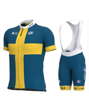 2020 Team FDJ Sweden Champion Cycling Jersey And Bib Shorts Set
