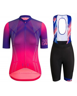 2020 Rapha Pro Team Women's Purple Cycling Jersey And Shorts Set