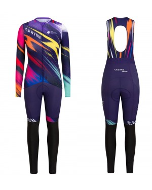 2020 Canyon Pro Team CS Women's Long Sleeve Cycling Jersey And Pants Set
