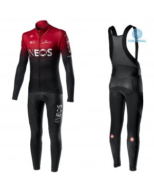2020 INEOS Team Red Thermal Cycling Jersey And Bib Pants Set