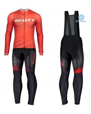 2020 Scott RC Pro Red Thermal Cycling Jersey And Bib Pants Set