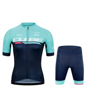 2020 Cube Team Pro Cycling Women Cycling Jersey And Shorts Set