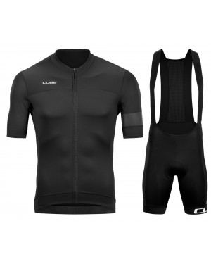 2020 Cube Black Cycling Jersey And Bib Shorts Set