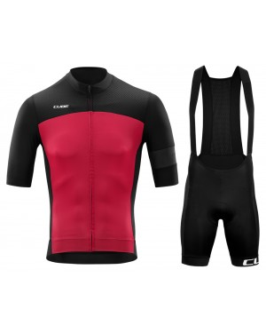 2020 Cube Black-Red Cycling Jersey And Bib Shorts Set