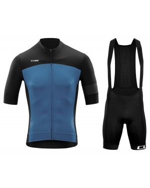 2020 Cube Black-Blue Cycling Jersey And Bib Shorts Set