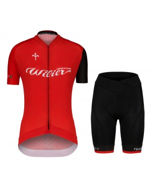 2020 Wilier Team Red Women Cycling Jersey And Shorts Set