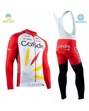 2020 Team Cofidis Pro Kids Thermal Cycling Jersey And Bib Pants Set