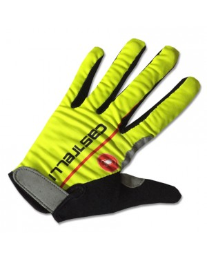 2017 Castelli Fluo Yellow Thermal Long Gloves