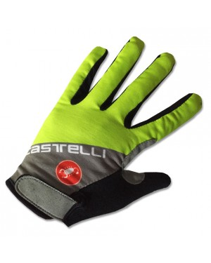 2017 Castelli Fluo Grey-Yellow Thermal Long Gloves