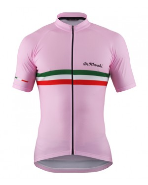 2016 De Marchi PT Italy Flag Pink - Short Sleeve Cycling Jersey