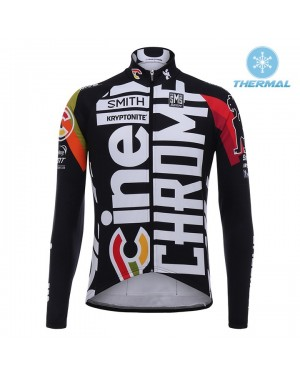 2017 Cinelli Chrome Training Black Thermal Long Sleeve Cycling Jersey