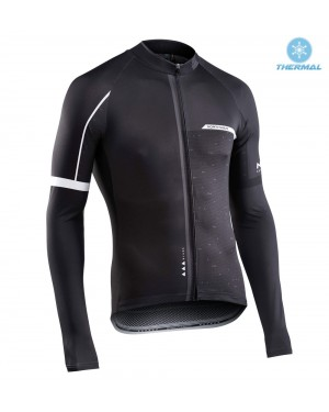 2017 Northwave Blade NW Black Thermal Long Sleeve Cycling Jersey