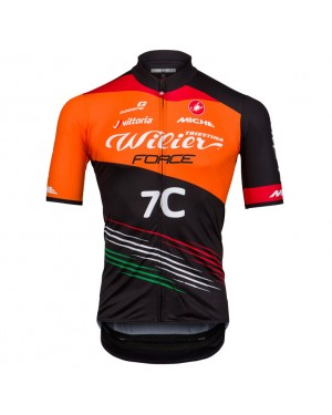 2018 Wilier Force 7C Orange Cycling Jersey