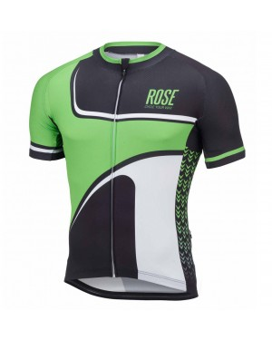 2016 Rose Retro Black-Green - Short Sleeve Cycling Jersey