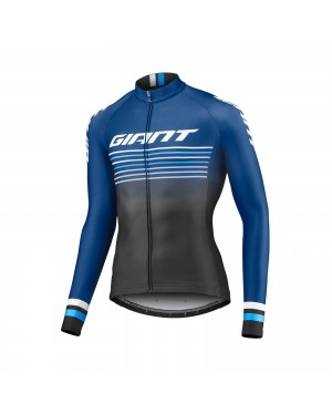 2019 Giant Race Day Dark Blue Long Sleeve Cycling Jersey