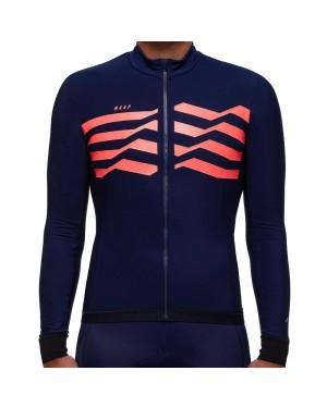 2019 MAAP M-Flag Ultra Blue-Red Long Sleeve Cycling Jersey