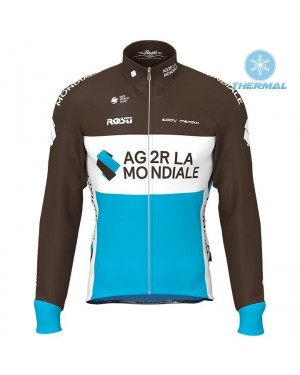 2019 AG2R Thermal Long Sleeve Cycling Jersey