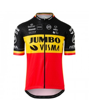 2020 Team JUMBO-VISMA Belgium Champion Cycling Jersey