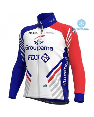 2020 Team FDJ Thermal Long Sleeve Cycling Jersey