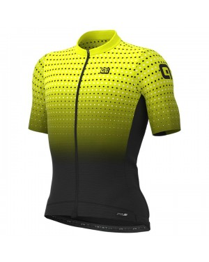 2021 ALE Bullet Yellow Cycling Jersey