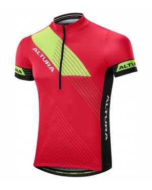 2017 Altura Sportive Red-Yellow Short Sleeve Cycling Jersey