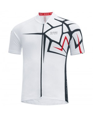 2017 Gore Element Adrenaline 4.0 White Short Sleeve Cycling Jersey