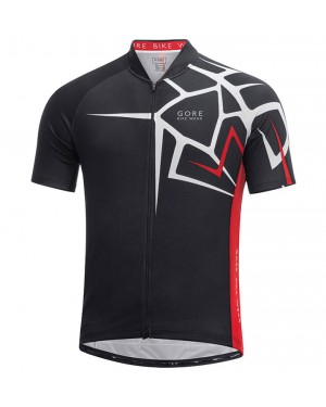 2017 Gore Element Adrenaline 4.0 Black-Red Short Sleeve Cycling Jersey