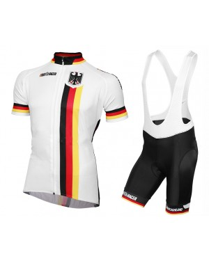 2016 Germany National Team - Short Sleeve Cycling Jersey And Bib Shorts