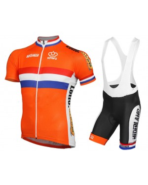 2016 Dutch National Team - Short Sleeve Cycling Jersey And Bib Shorts