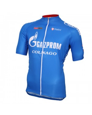 2016 Gazprom-Rusvelo Colnago Blue - Short Sleeve Cycling Jersey