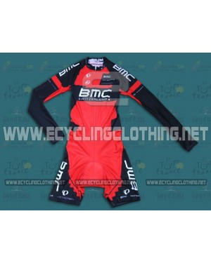 2014 Team BMC - Long Sleeve Cycling Skinsuit Time Trail Skin Suits