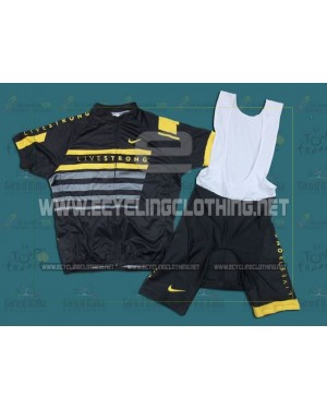 2013 Black LiveStrong - Short Sleeve Cycling Jersey And Bib Shorts