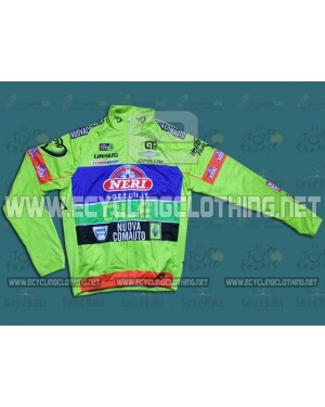 2014 Yellow Fluo- Neri Sottoli - Thermal Long Sleeve Cycling Jersey